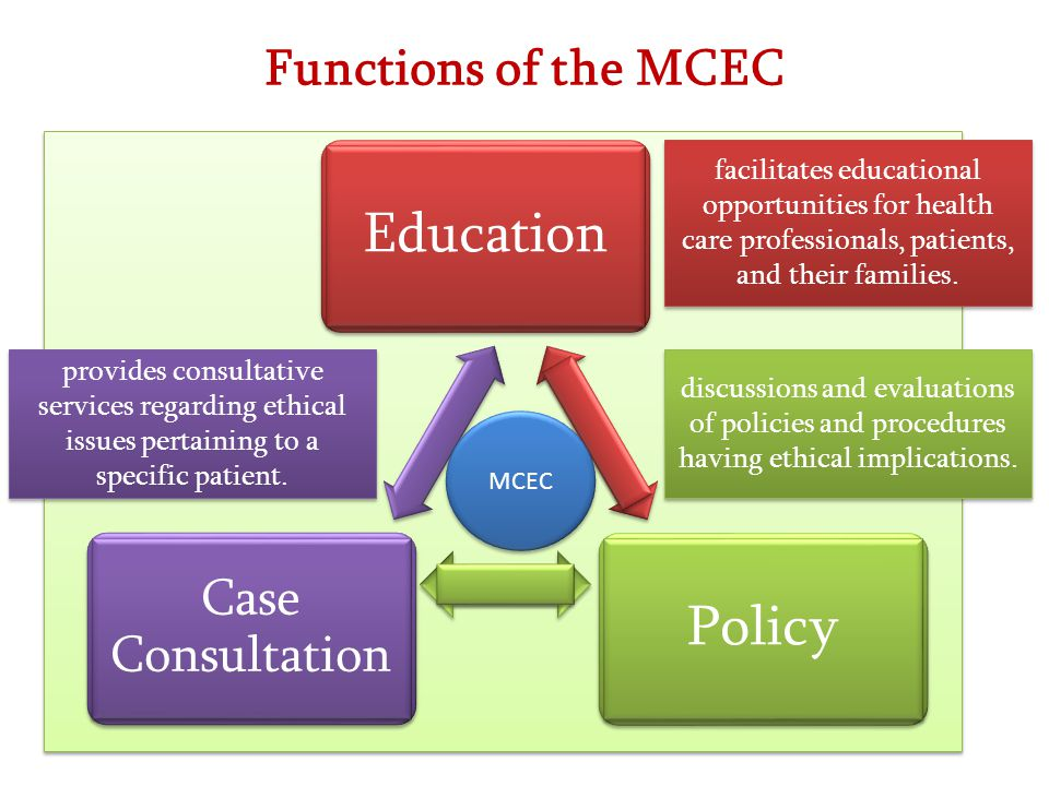 Education Policy Functions of the MCEC Case Consultation