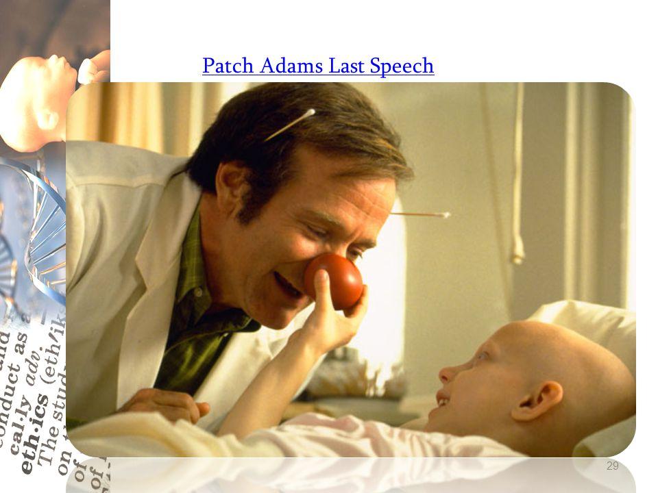 Patch Adams Last Speech