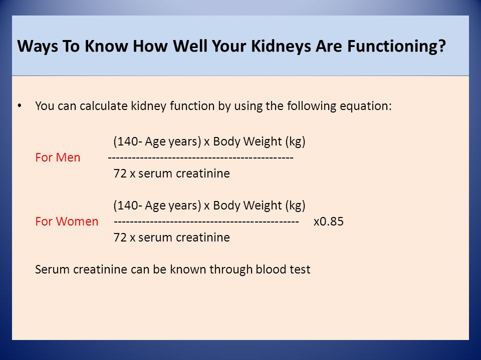 Ways To Know How Well Your Kidneys Are Functioning