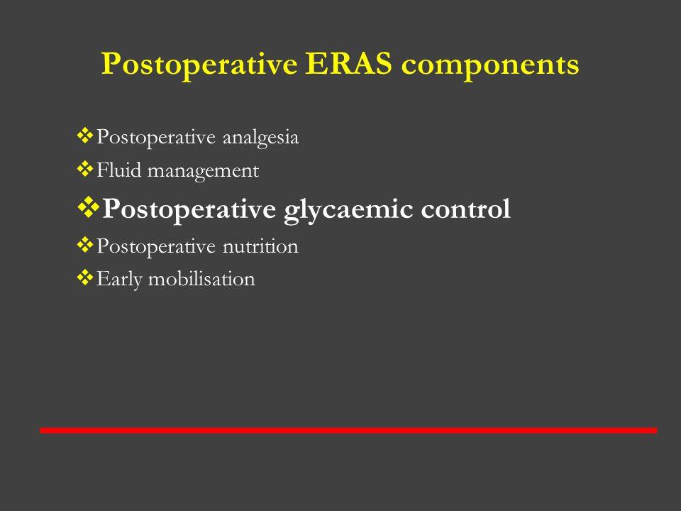 Postoperative ERAS components