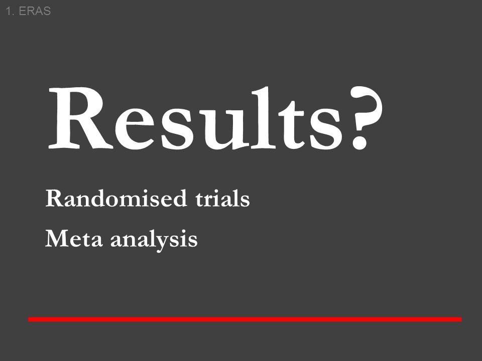 1. ERAS Results Randomised trials Meta analysis