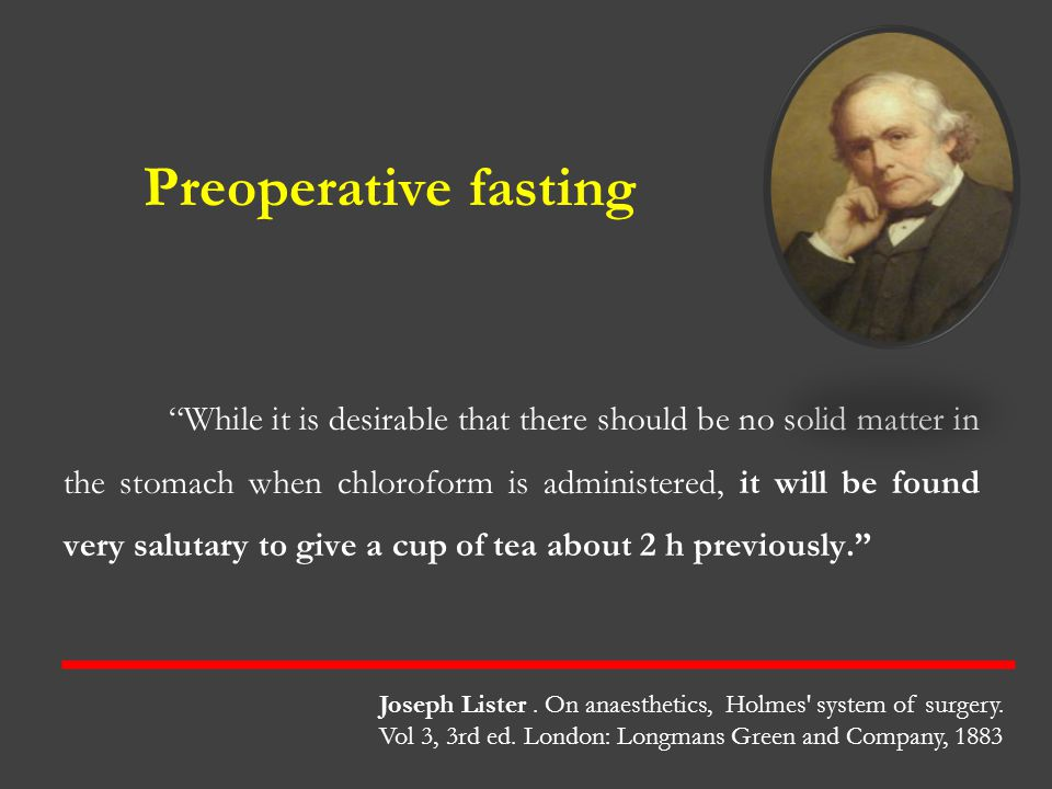 Preoperative fasting