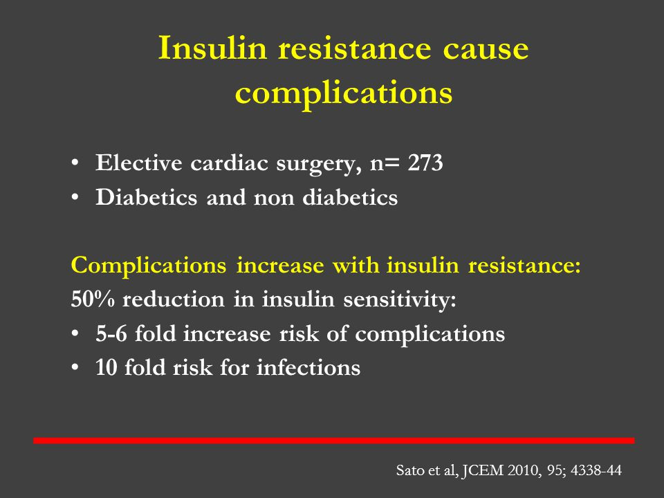 Insulin resistance cause complications