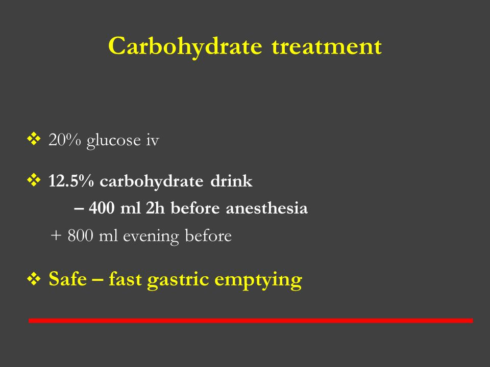 Carbohydrate treatment