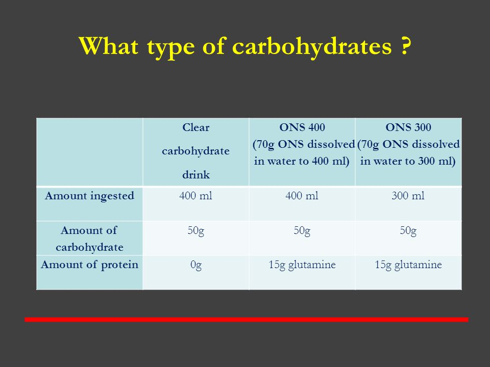What type of carbohydrates