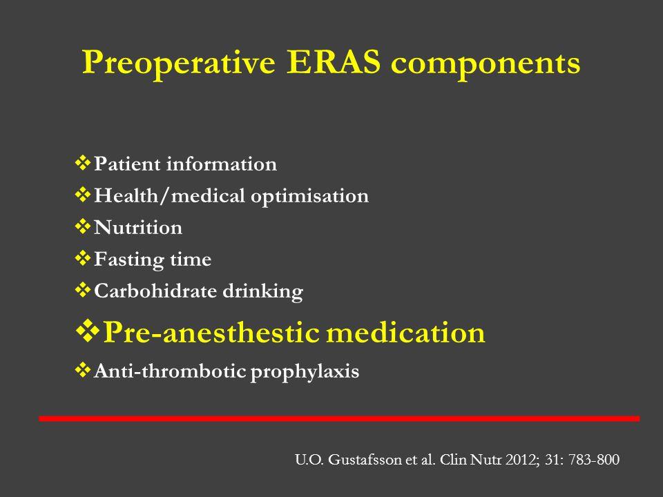 Preoperative ERAS components