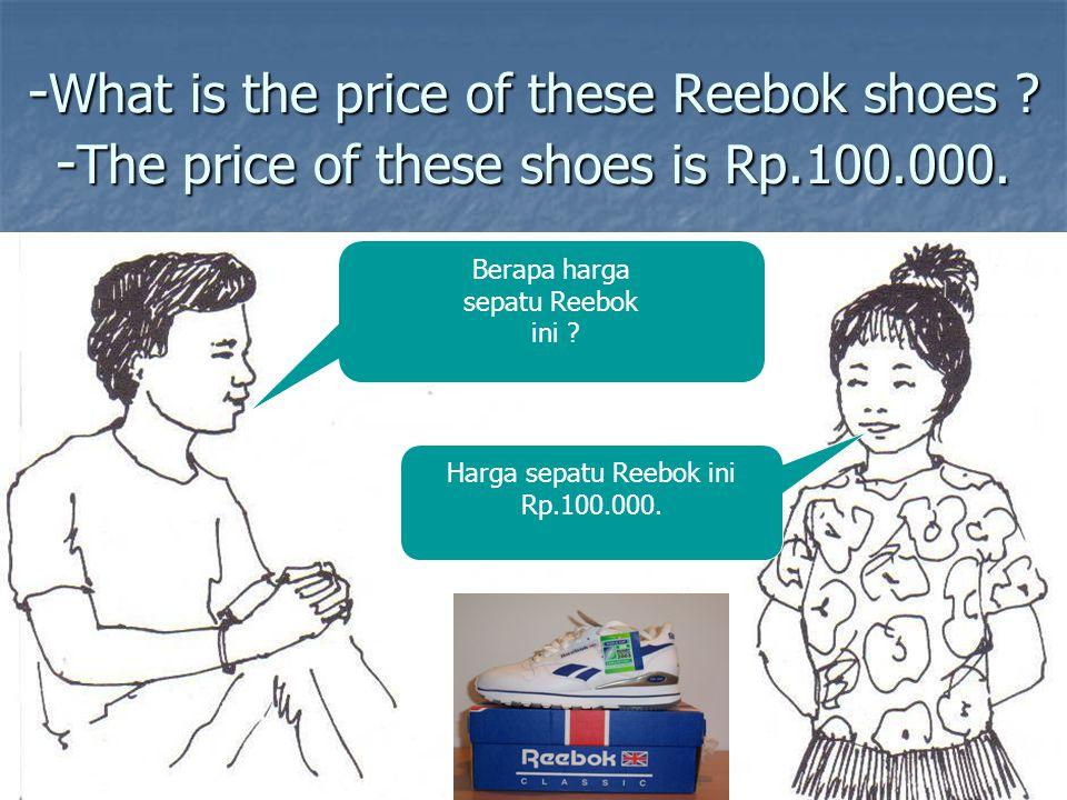 Harga sepatu Reebok ini