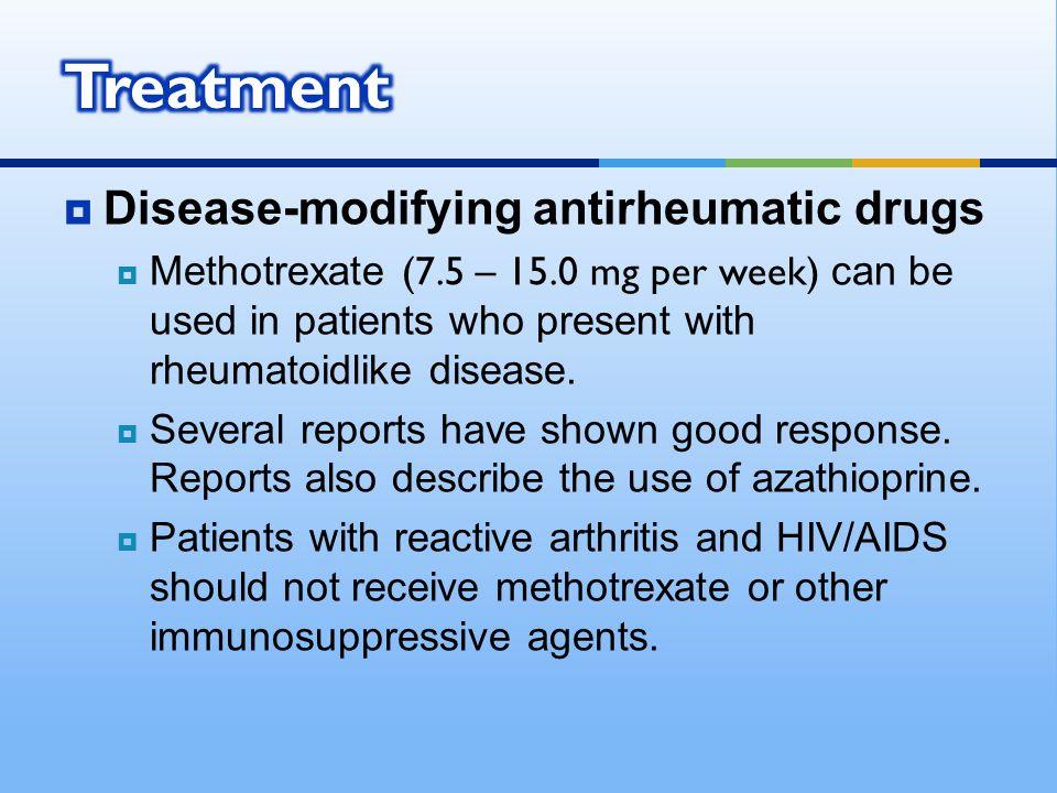 Treatment Disease-modifying antirheumatic drugs