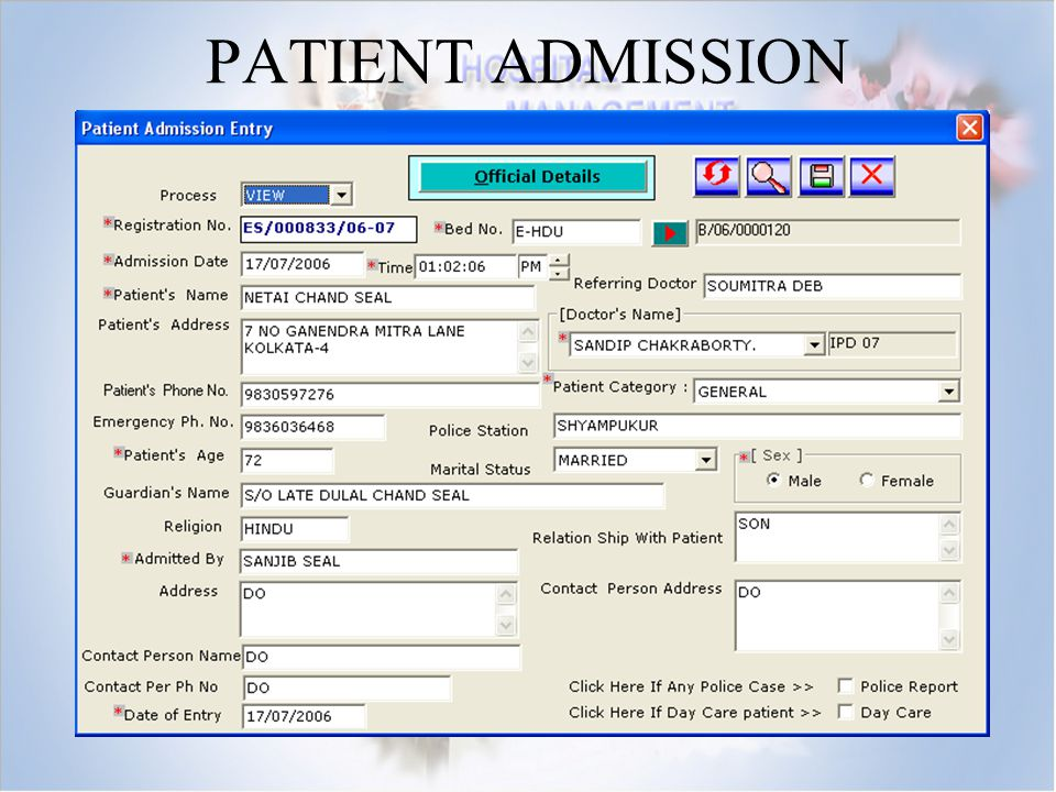 Patient Management System Er Diagram Hospital Management