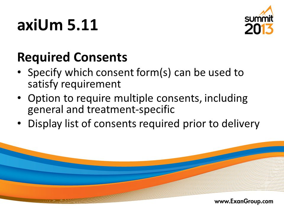 axiUm 5.11 Required Consents