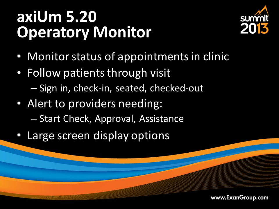 axiUm 5.20 Operatory Monitor