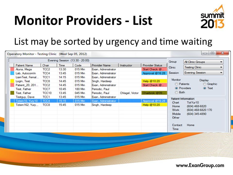 Monitor Providers - List