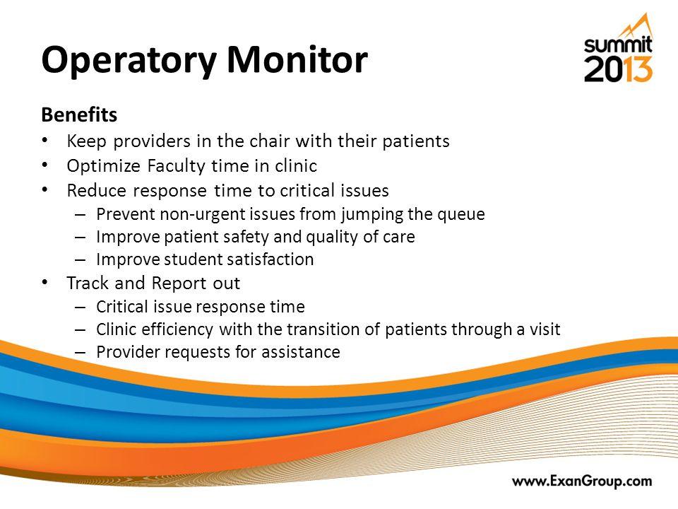 Operatory Monitor Benefits