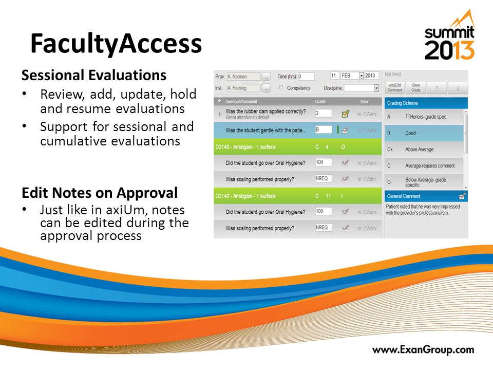 FacultyAccess Sessional Evaluations Edit Notes on Approval