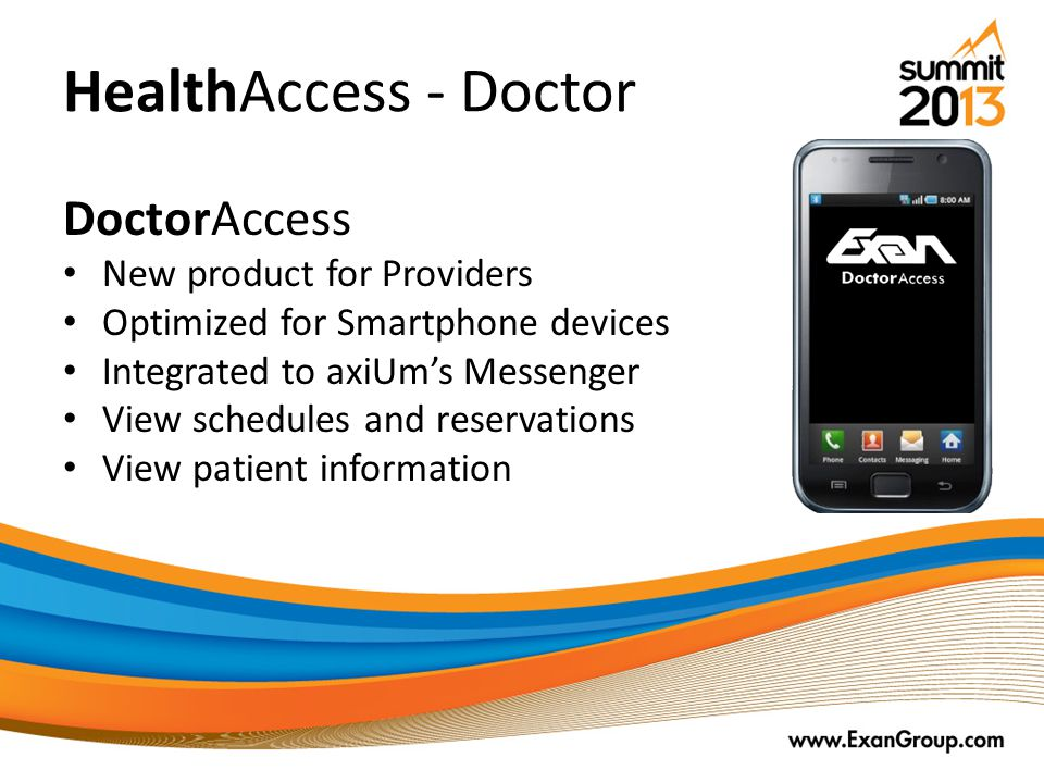 HealthAccess - Doctor DoctorAccess New product for Providers