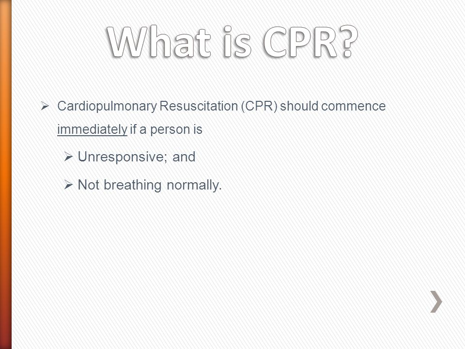 Legal Aspects Resuscitation should be provided by a first aider to the best of their ability. Legal aspects around CPR include.
