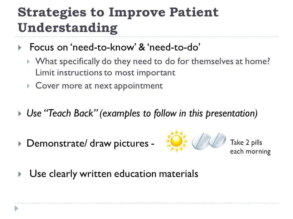 Strategies to Improve Patient Understanding