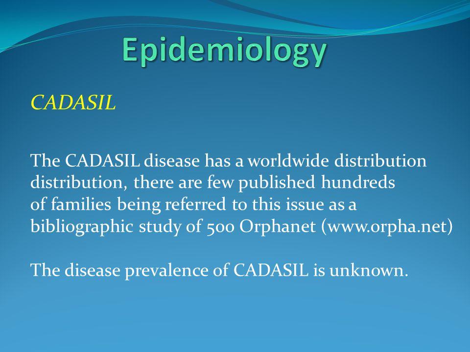 Epidemiology CADASIL.