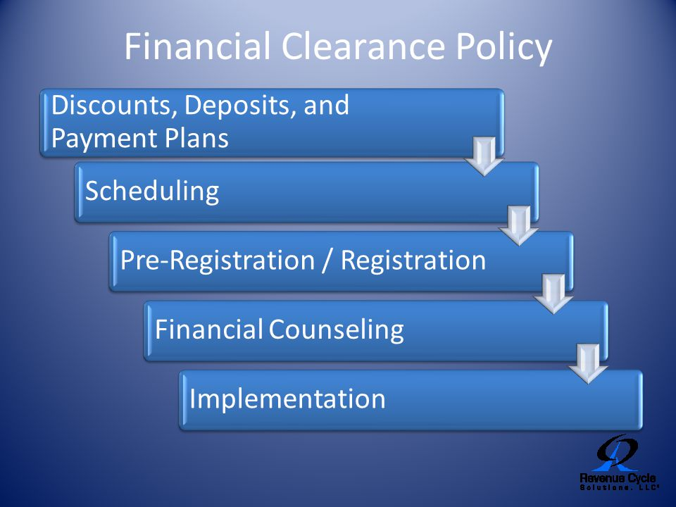 Financial Clearance Policy