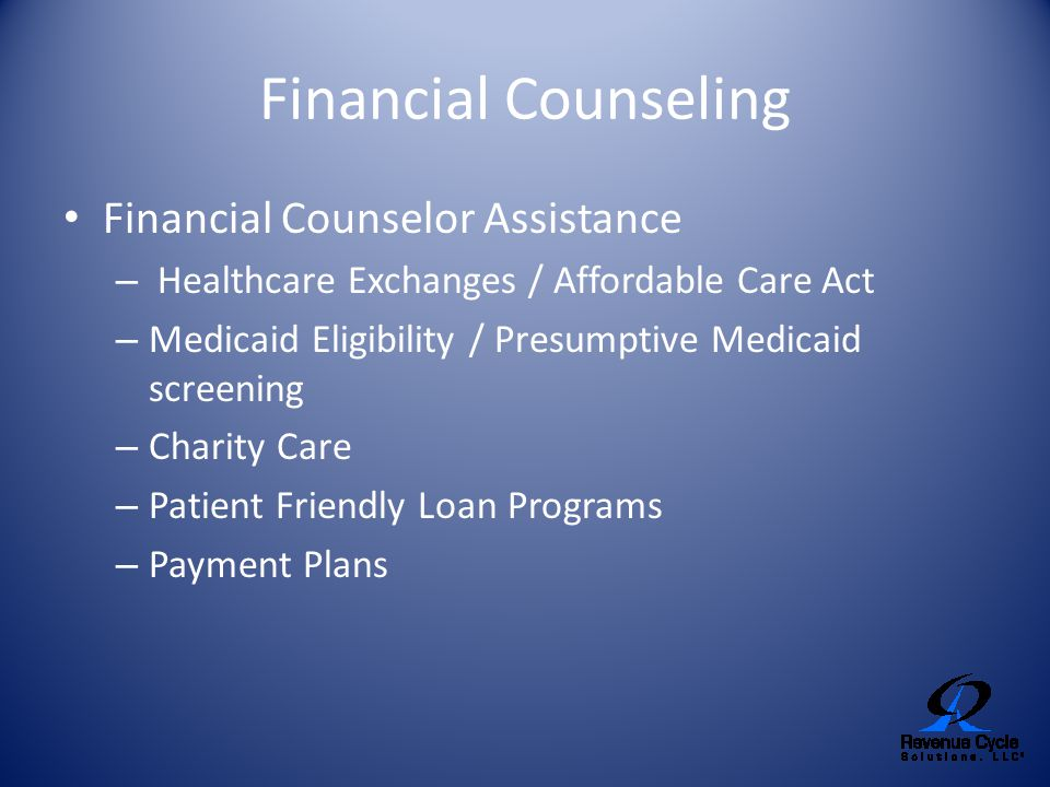 Financial Counseling Financial Counselor Assistance