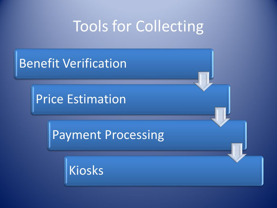 Tools for Collecting Benefit Verification Price Estimation