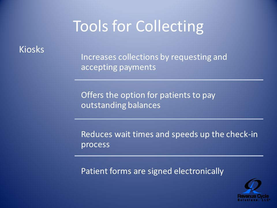 Tools for Collecting Kiosks