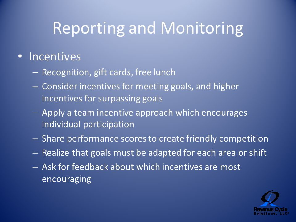 Reporting and Monitoring