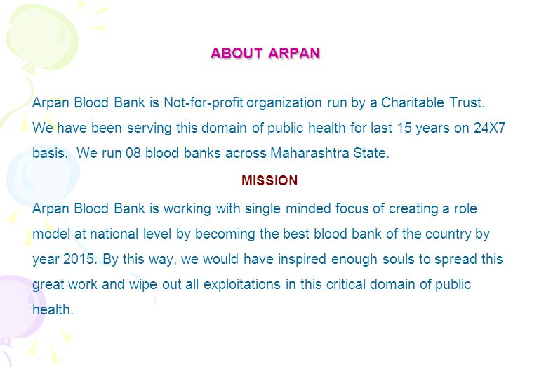 ABOUT ARPAN