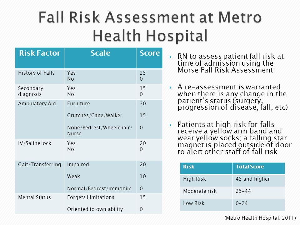 Fall Risk Assessment at Metro Health Hospital