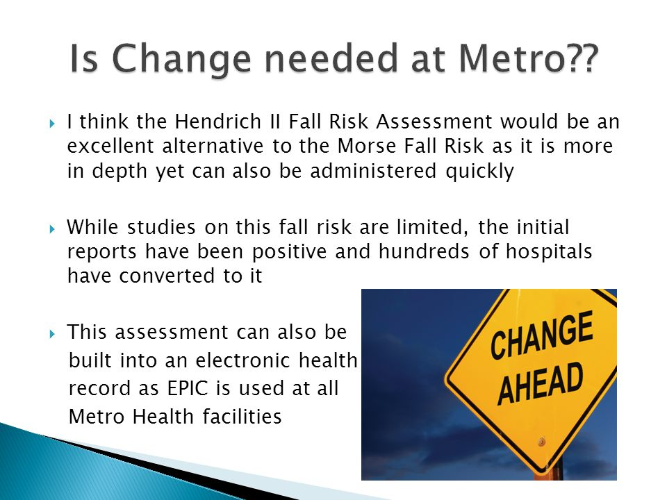 Is Change needed at Metro