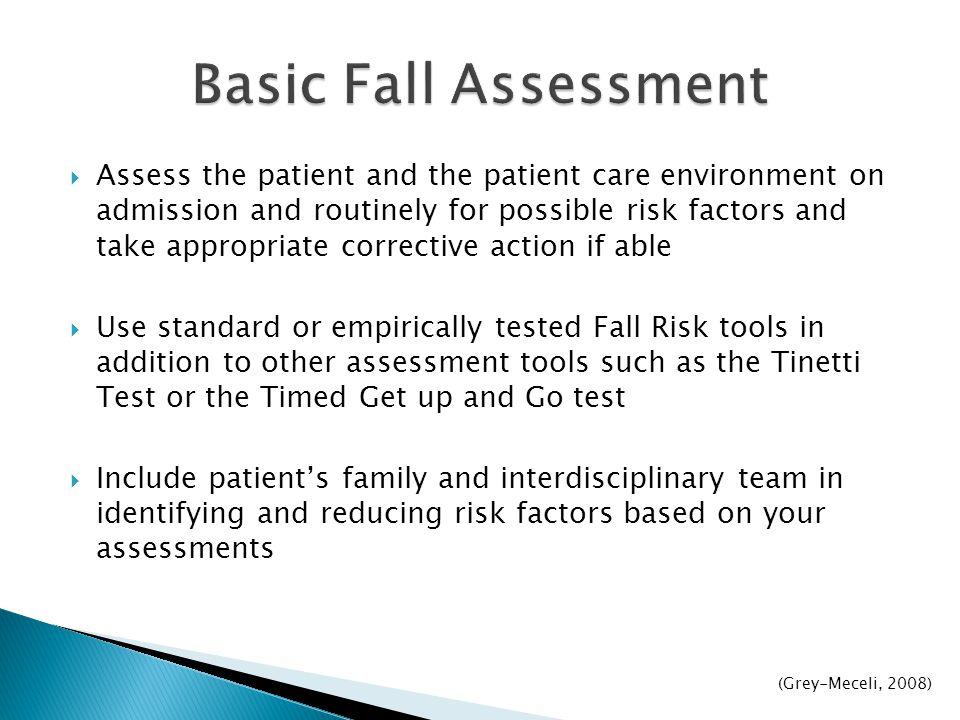 Basic Fall Assessment
