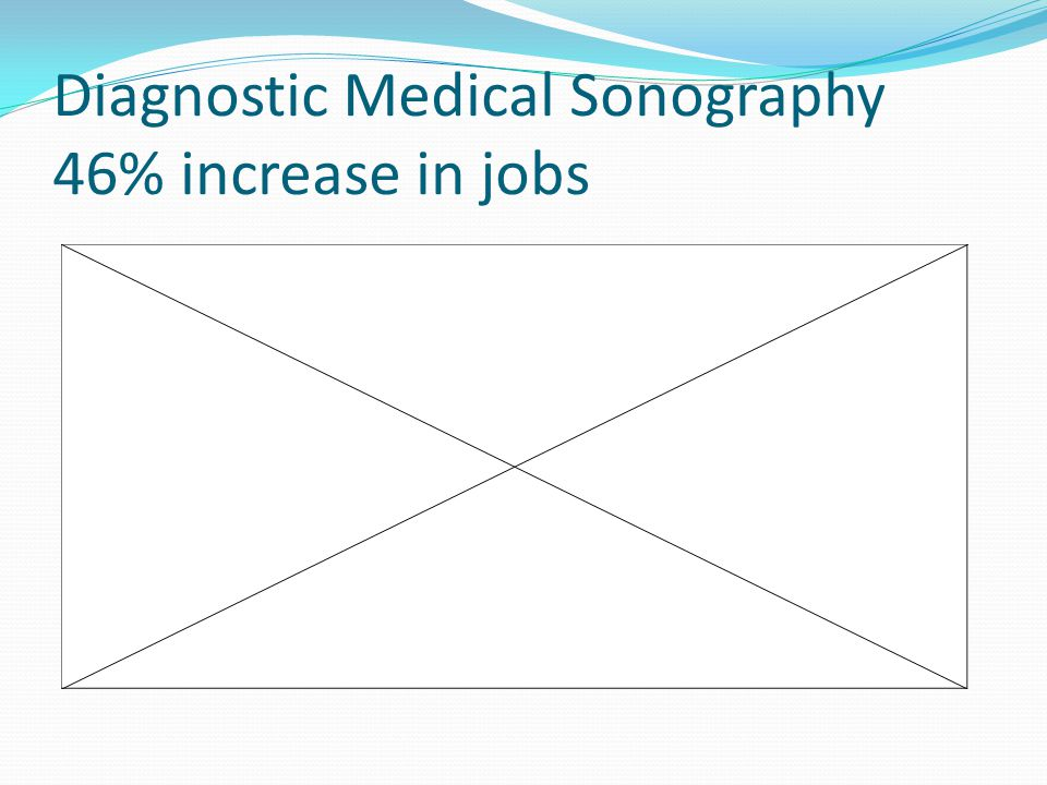 Diagnostic Medical Sonography 46% increase in jobs