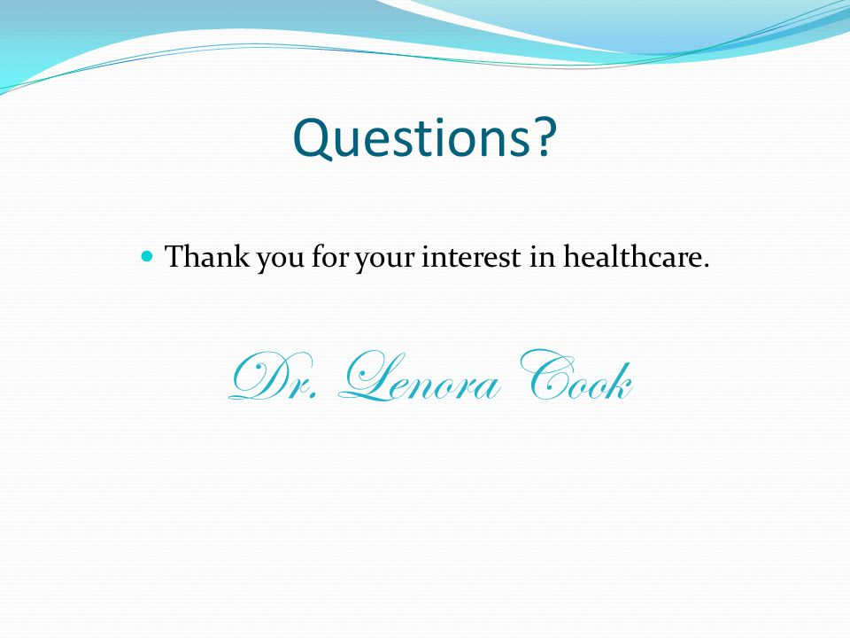 Thank you for your interest in healthcare.