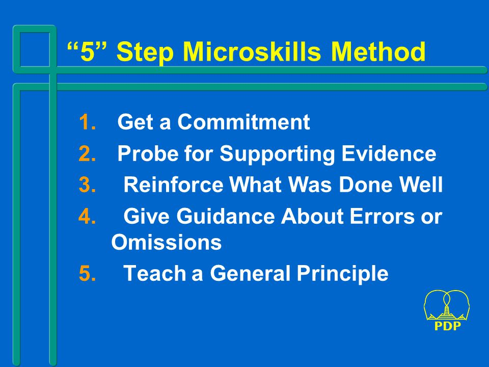 5 Step Microskills Method