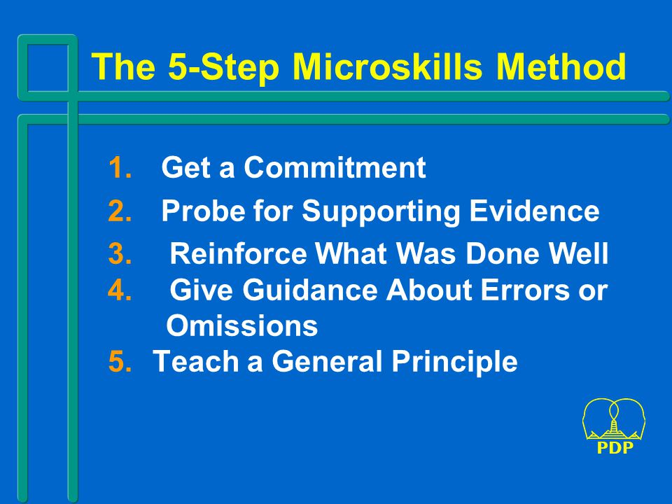 The 5-Step Microskills Method