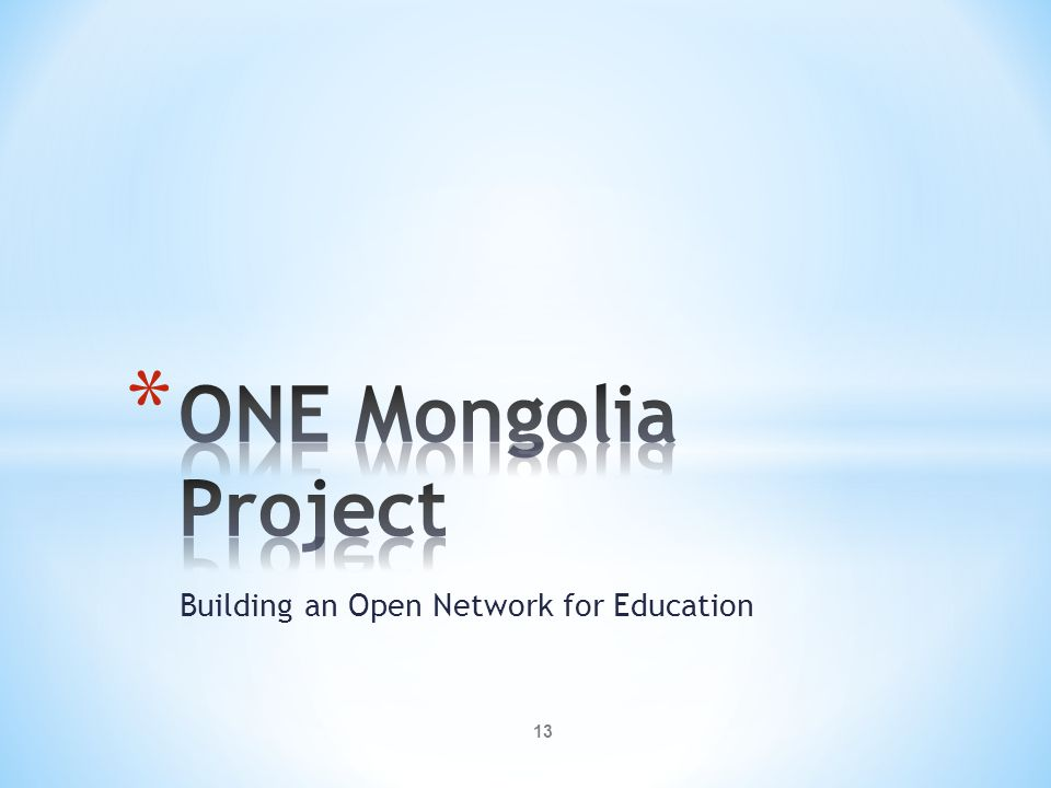 Building an Open Network for Education