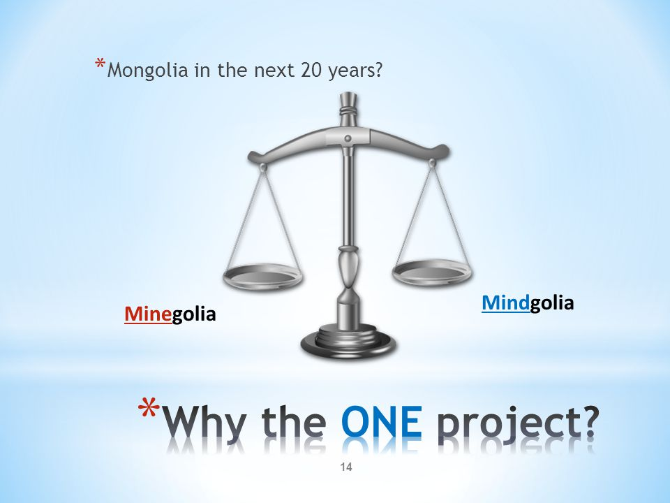 Why the ONE project Mindgolia Minegolia