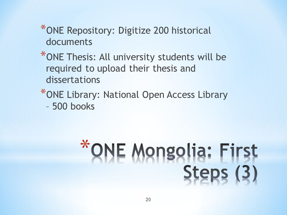 ONE Mongolia: First Steps (3)