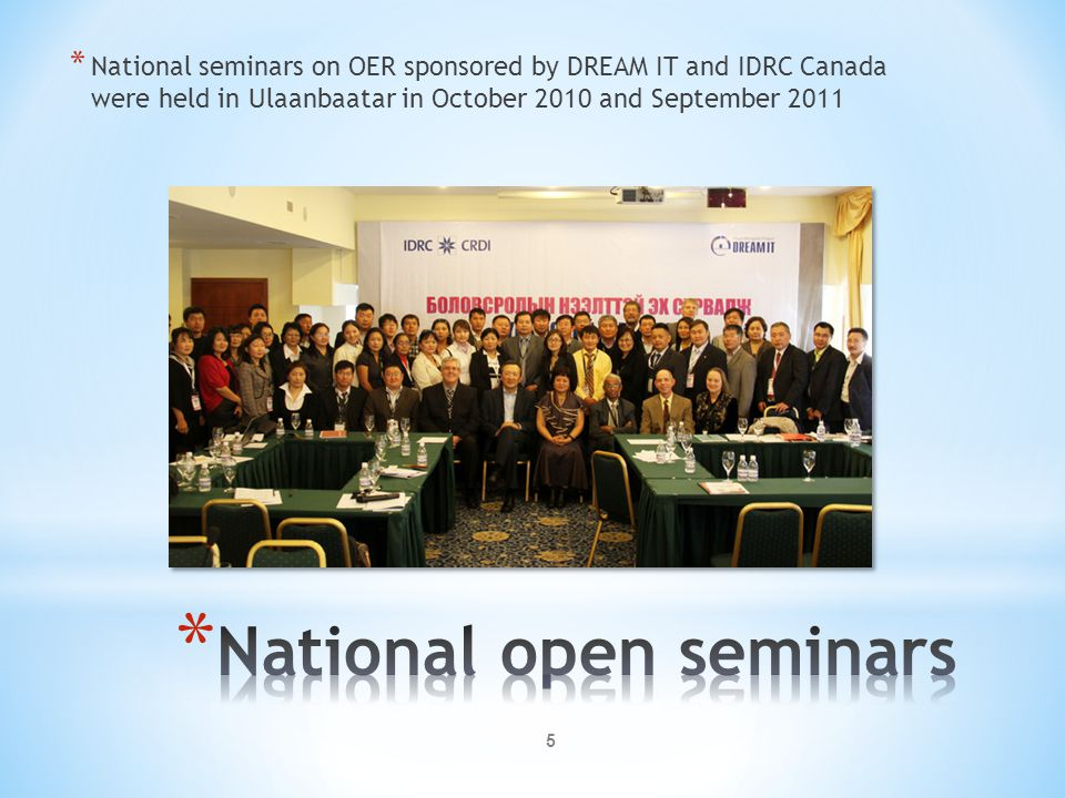 National open seminars