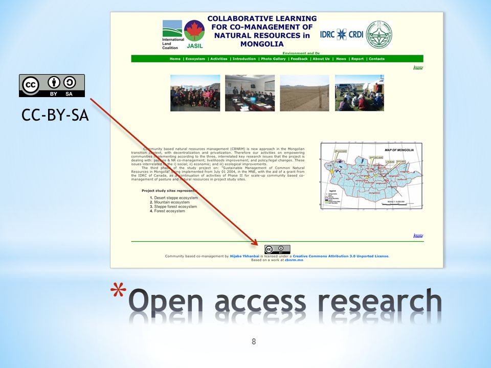 CC-BY-SA Open access research