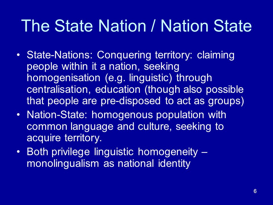 The State Nation / Nation State