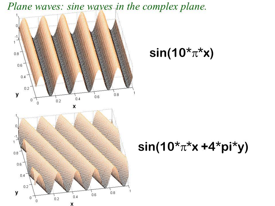 sin(10*p*x) sin(10*p*x +4*pi*y)