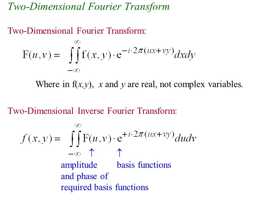 Two-Dimensional Fourier Transform