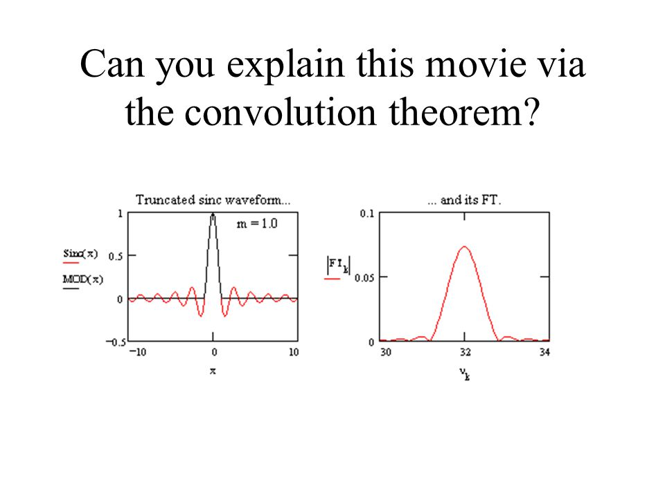 Can you explain this movie via the convolution theorem