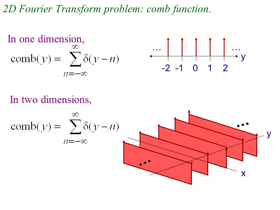 2D Fourier Transform problem: comb function.