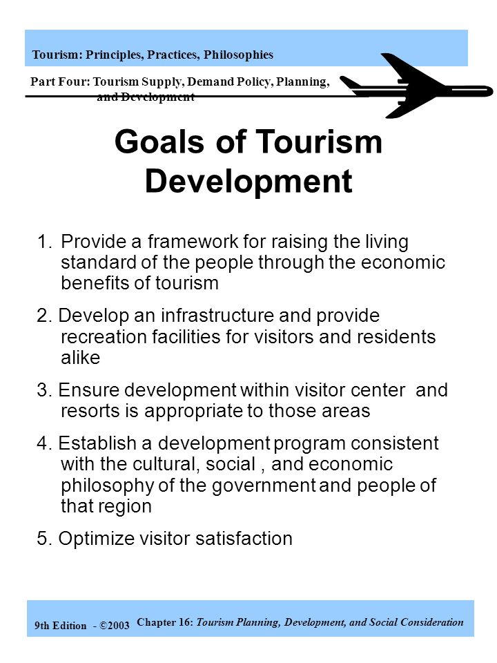 Goals of Tourism Development