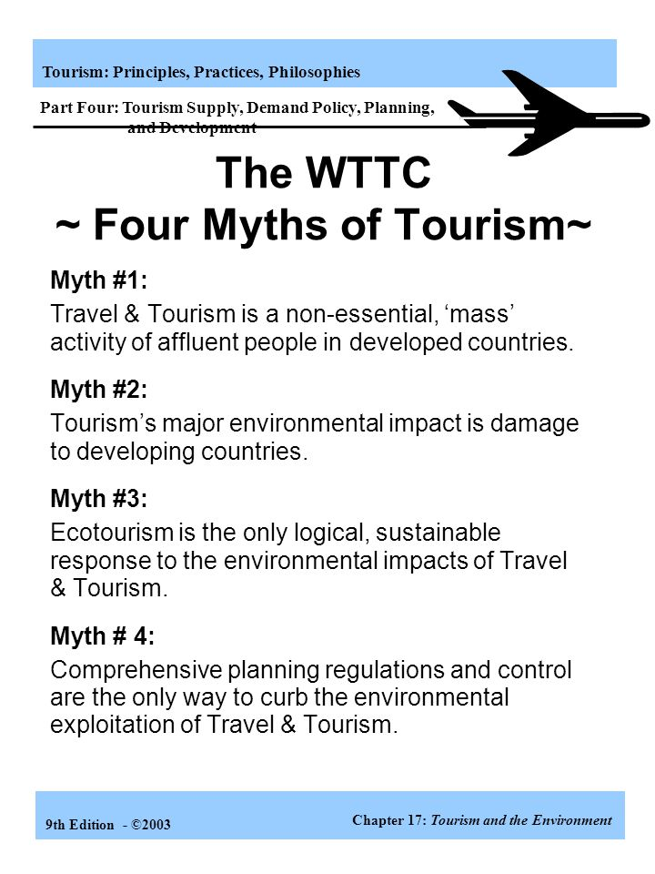 The WTTC ~ Four Myths of Tourism~