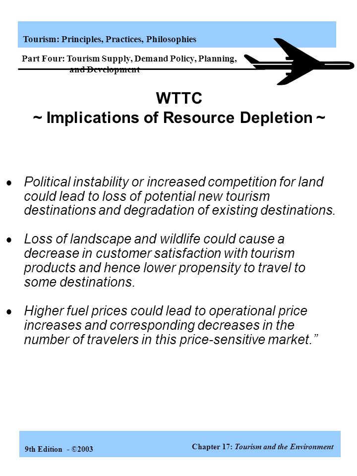 WTTC ~ Implications of Resource Depletion ~