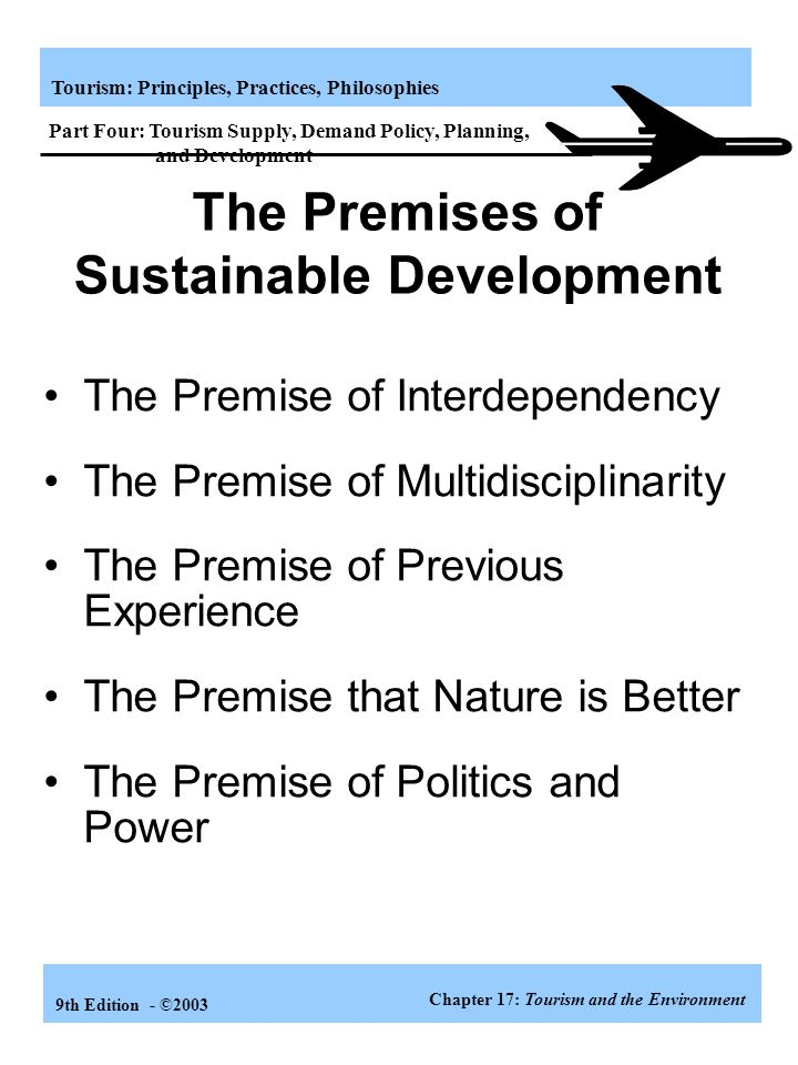The Premises of Sustainable Development