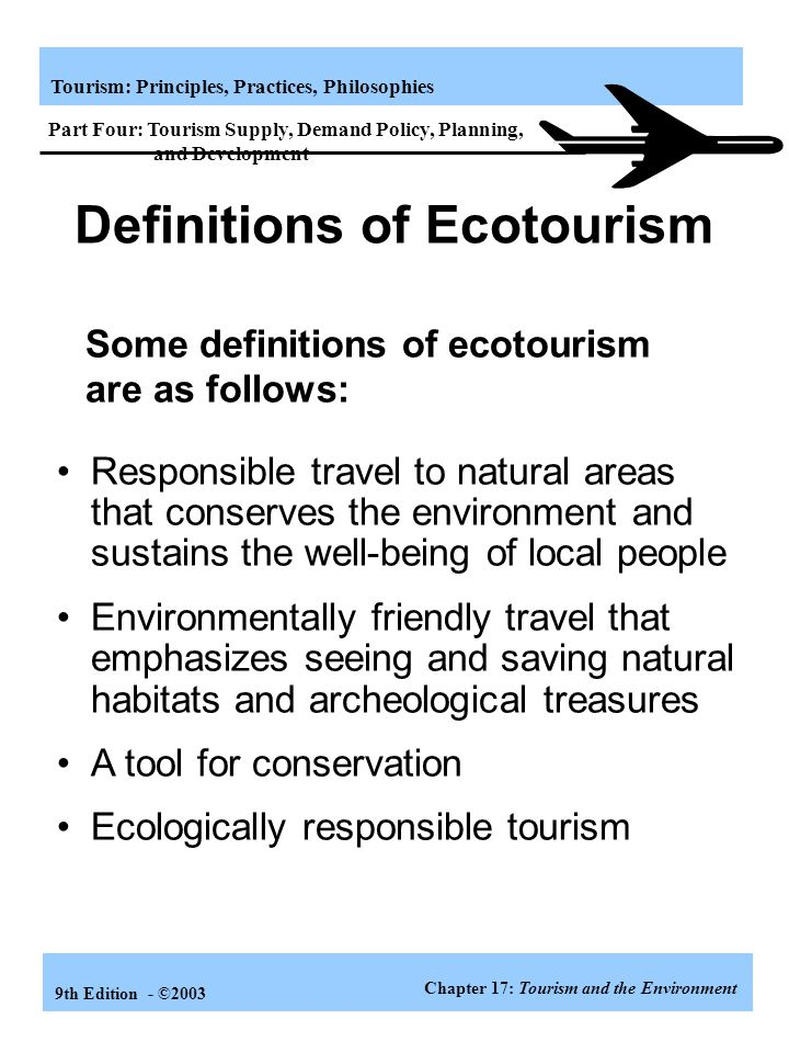 Definitions of Ecotourism
